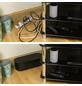 D-Line Kabelbox, groß, Schwarz, oval, 415 x 165 x 135 mm-Thumbnail
