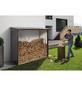 BIOHORT Kaminholzlager »WoodStock 230«, BxHxL: 229 x 199 x 102 cm, dunkelgrau-metallic-Thumbnail