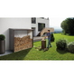 BIOHORT Kaminholzlager »WoodStock 230«, BxHxL: 229 x 199 x 102 cm, silber-metallic-Thumbnail
