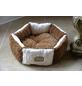 Katzen-Bett, weiß/braun-Thumbnail