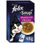 FELIX Katzen-Nassfutter »Felix Soup«, Rind/Huhn/Thunfisch, 6 x 48g-Thumbnail