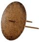 Kerzenhalter, zum Stecken, dunkelbraun, Ø: 6,5 cm-Thumbnail