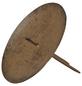 Kerzenhalter, zum Stecken, dunkelbraun, Ø: 8 cm-Thumbnail