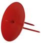 Kerzenhalter, zum Stecken, rot, Ø: 6,5 cm-Thumbnail