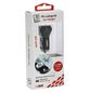 2GO Kfz-Ladegerät, Silber   Schwarz, 1x USB-Buchse 2,4 A, 1x USB-Buchse 1 A-Thumbnail