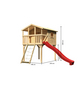 AKUBI Kinderspielanlage Stelzenhaus  »Benjamin« mit Rutsche, Netzrampe-Thumbnail