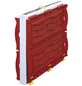 RAM Kinderspielhaus, BxHxT: 98 x 115 x 91 cm, Kunststoff, weiß/rot-Thumbnail