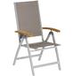 Klappstuhl »Naxos«, BxHxT: 58,5 x 110,5 x 65 cm, Aluminium/Akazienholz/Textil-Thumbnail