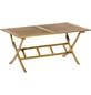 Klapptisch, mit Akazienholz-Tischplatte, BxTxH: 90 x 160 x 75 cm-Thumbnail