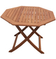 Klapptisch, mit Eukalyptusholz-Tischplatte, Ø x H: 110 x 74 cm-Thumbnail