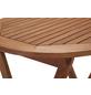 Klapptisch, mit Eukalyptusholz-Tischplatte, Ø x H: 65 x 75 cm-Thumbnail