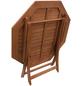 Klapptisch, mit Eukalyptusholz-Tischplatte, ØxH: 110 x 74 cm-Thumbnail