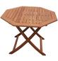 Klapptisch, ØxH: 110 x 74 cm, Tischplatte: Eukalyptusholz-Thumbnail
