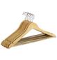 WENKO Kleiderbügel, BxHxL: 45 x 23,5 x 1,2 cm, Holz, braun-Thumbnail