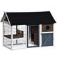 Kleintierstall, BxHxT: 150 x 109 x 90 cm, grau/weiss/braun-Thumbnail