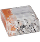 BESTEST Klemme, Compact, Kunststoff, Orange, Kabel von 0,5 bis 2,5 mm²-Thumbnail