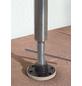 Klemmmarkise, BxT: 400x150 cm, bordeauxrot gestreift-Thumbnail