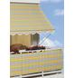 Klemmmarkise, BxT: 400x150 cm, grau/weiss/gelb gestreift-Thumbnail