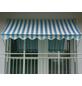 Klemmmarkise, BxT: 400x150 cm, weiss/blau gestreift-Thumbnail