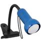EGLO Klemmspot »FABIO« schwarz/blau mit 40 W, Schirm-Ø x H: 6 x 30 cm, E14 ohne Leuchtmittel-Thumbnail