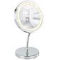 WENKO Kosmetikspiegel »Brolo«, beleuchtet, rund, BxH: 15 x 16,5 cm-Thumbnail