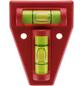 CONNEX Kreuzwasserwaage, Länge: 12 cm, rot-Thumbnail