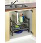 WENKO Küchenunterschrank, Aluminium, silberfarben matt-Thumbnail
