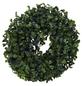 Flower-Power Kunstpflanze, Buchskranz, grün-Thumbnail