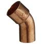 CORNAT Kupferbogen, 45°, 22 mm, 1 Muffe-Thumbnail