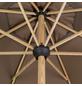 DOPPLER Kurbelschirm »Alu Wood«, Ø: 350 cm, Sonnenschutzfaktor: 50+-Thumbnail