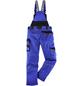 BULLSTAR Latzhose »EVO«, Schwarz/Kornblumenblau, Verstellbare Träger-Thumbnail