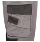 SAFETY AND MORE Latzhose EXTREME Polyester/Baumwolle grau/schwarz Gr. XL-Thumbnail