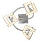 GLOBO LIGHTING LED-Deckenleuchte »EMMA« nickelfarben 3-flammig, inkl. Leuchtmittel in warmweiß-Thumbnail