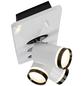 AEG LED-Deckenleuchte weiss/schwarz 3-flammig, dimmbar, inkl. Leuchtmittel-Thumbnail
