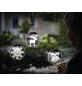 Krinner LED-Fensterbild »Lumix Deco Lights«, Kerzen, silberfarben, ø: 10 cm, Batteriebetrieb-Thumbnail