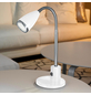 EGLO LED-Tischleuchte »FOX« Weiß, Schirm-Ø x H: 5,5 x 33,2 cm, GU10 inkl. Leuchtmittel in Warmweiß-Thumbnail