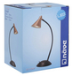 NÄVE LED-Tischleuchte »Pinhead« schwarz/kupferfarben, Schirm-Ø x H: 8,5 x 35 cm,  inkl. Leuchtmittel in Warmweiß-Thumbnail