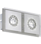 wofi® LED-Wandleuchte chromfarben 2-flammig, inkl. Leuchtmittel in warmweiß-Thumbnail