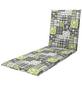 DOPPLER Liegenauflage »Living«, grau/grün, Floral, BxL: 60 x 195 cm-Thumbnail