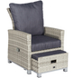CASAYA Loungesessel »Bolanos«, BxTxH: 68  x 77  x 94  cm, Aluminium/ Polyrattan/ Polyester-Thumbnail