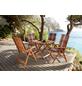 MERXX Loungeset »Borkum«, 4 Sitzplätze, inkl. Auflagen, Hartholz-Thumbnail
