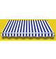 SPETTMANN Markise »STAR KLASSIK«, BxT: 250x200 cm, weiss/grau/blau gestreift-Thumbnail