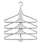 ZELLER Mehrfach-Kleiderbügel Buche/Metall weiß 40 x 41 cm-Thumbnail