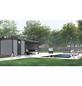 WOLFF FINNHAUS Metallgerätehaus »Eleganto 2424«, 15 m³, BxT: 522 x 238 cm mit Lounge-Thumbnail