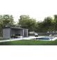 WOLFF FINNHAUS Metallgerätehaus »Eleganto 3024«, 15,8 m³, BxT: 582 x 238 cm mit Lounge-Thumbnail