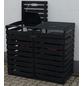 PROMADINO Mülltonnenbox, 130 x 111 x 63 cm (BxHxT), für 2 x 120 Liter Tonnen-Thumbnail