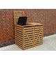 Mülltonnenbox, BxHxT: 130 x 111 x 63 cm, braun-Thumbnail