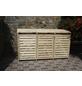 PROMADINO Mülltonnenbox »Vario III«, aus Kiefernholz, 219x122x92cm (BxHxT), 720 Liter-Thumbnail