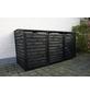 PROMADINO Mülltonnenbox »Vario III«, Kiefernholz, anthrazit, BxHxT: 219 x 122 x 92 cm-Thumbnail