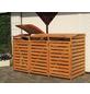 PROMADINO Mülltonnenbox »Vario III«, Kiefernholz, honigbraun, BxHxT: 219 x 122 x 92 cm-Thumbnail